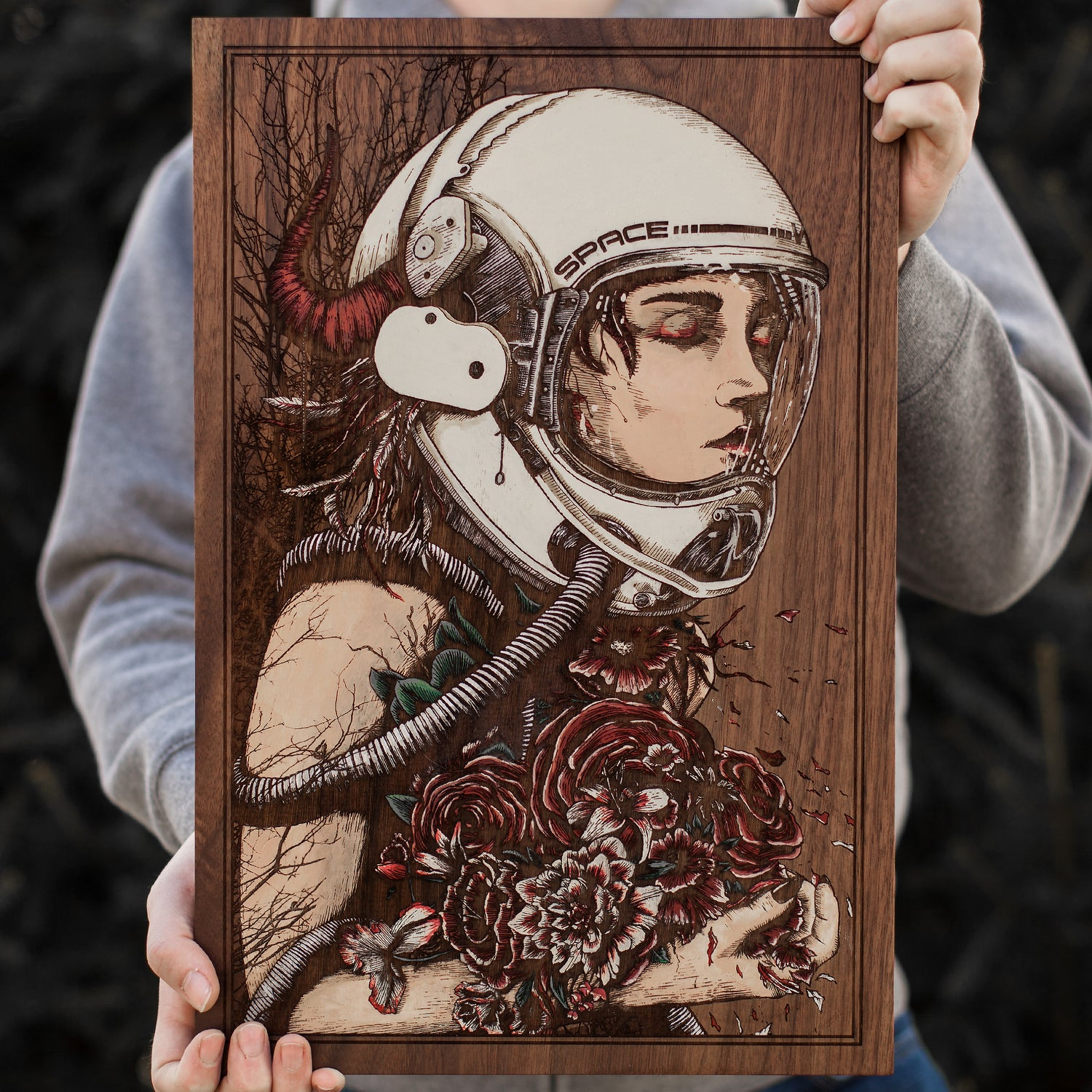 """Image of The Bounty - 12""""x18"""" Engraved Painting"""