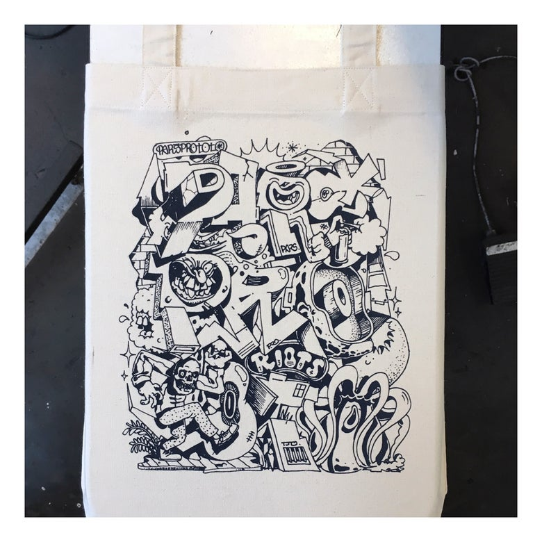 Image of .parsprototo | tote bag by flying fortress & riot 1394 *