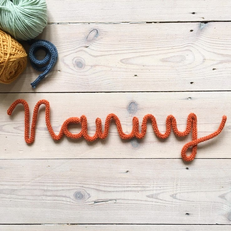 Image of Nanny Knitted Wire Word