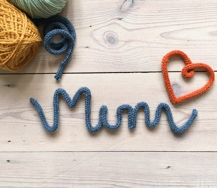 Image of Mum Knitted Wire Word