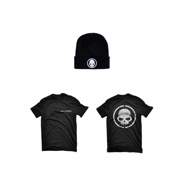 Image of BLACK LOGO TEE WITH BEANIE COMBO