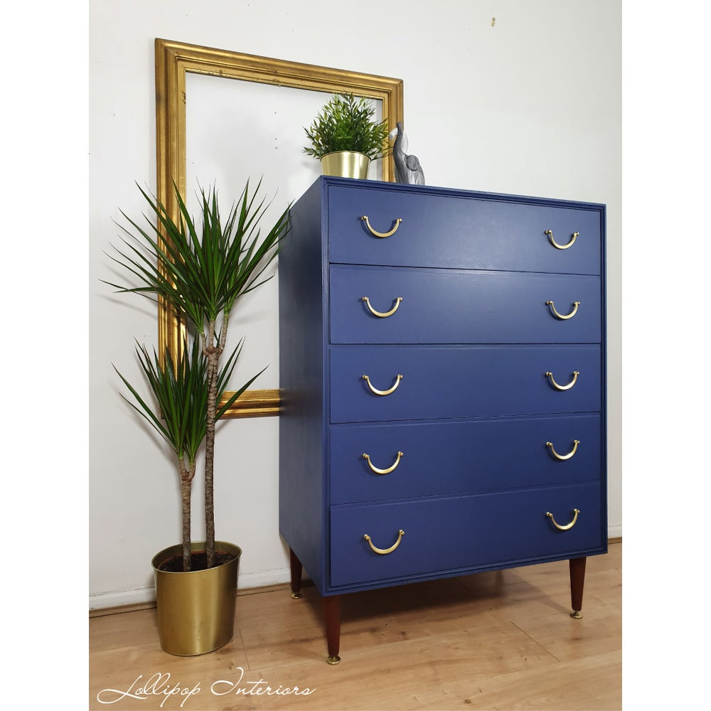 Image of Meredew chest of drawers in liberty blue