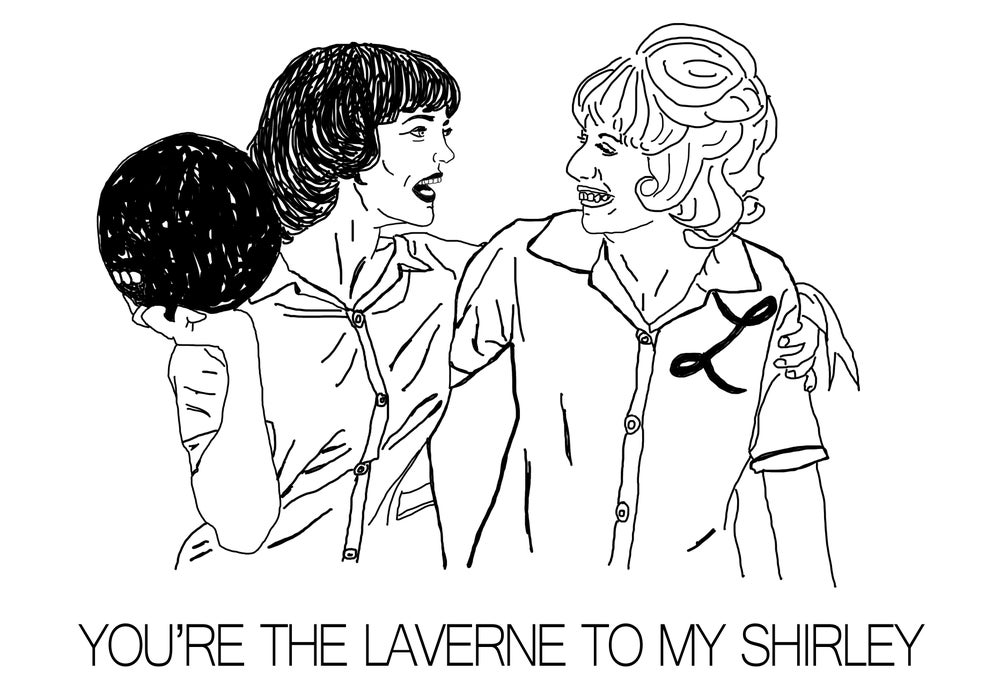 Laverne & Shirley Card