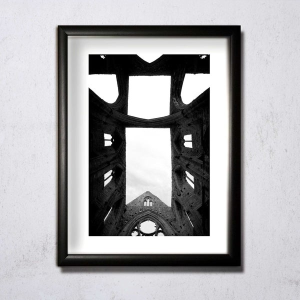 Image of Tintern Abbey b&w 02 A4/A3 photographic print