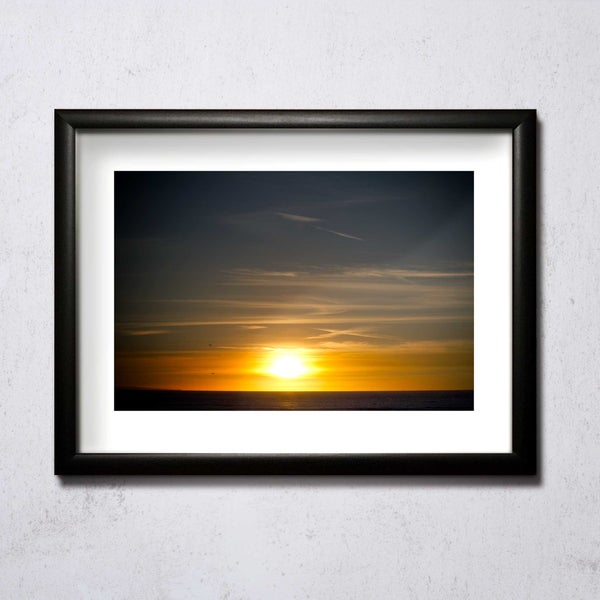 Image of Sunset At Porthcawl 02 A4/A3 photographic print