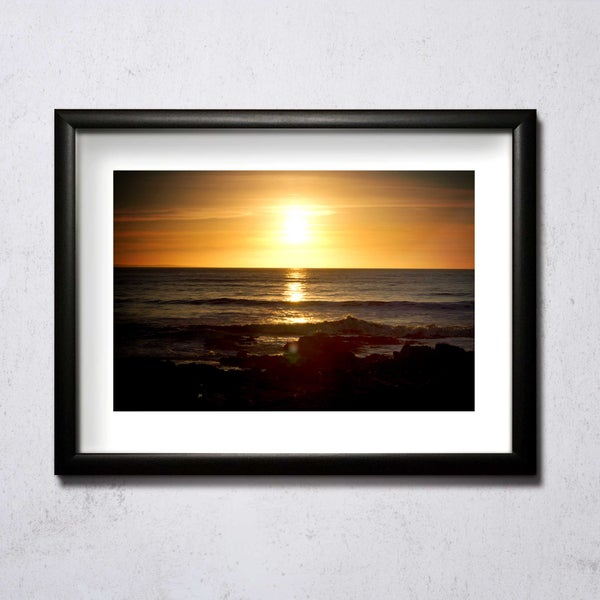 Image of Sunset At Porthcawl 01 A4/A3 photographic print