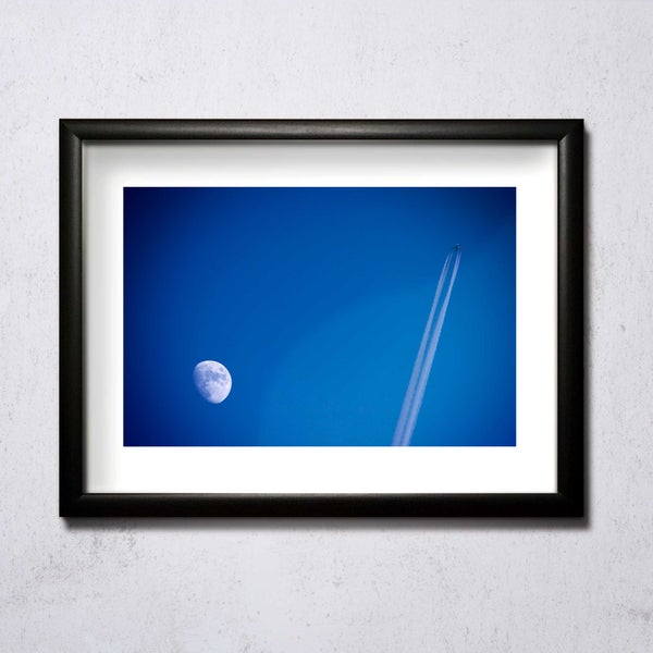 Image of Moon And Plane A4/A3 photographic print