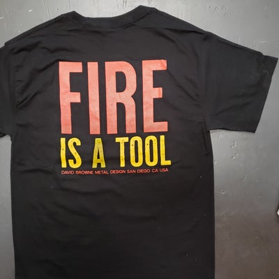 Image of FIRE IS A TOOL BRAND. BEEFY-T W/POCKET. 4 COLORS TO CHOOSE!