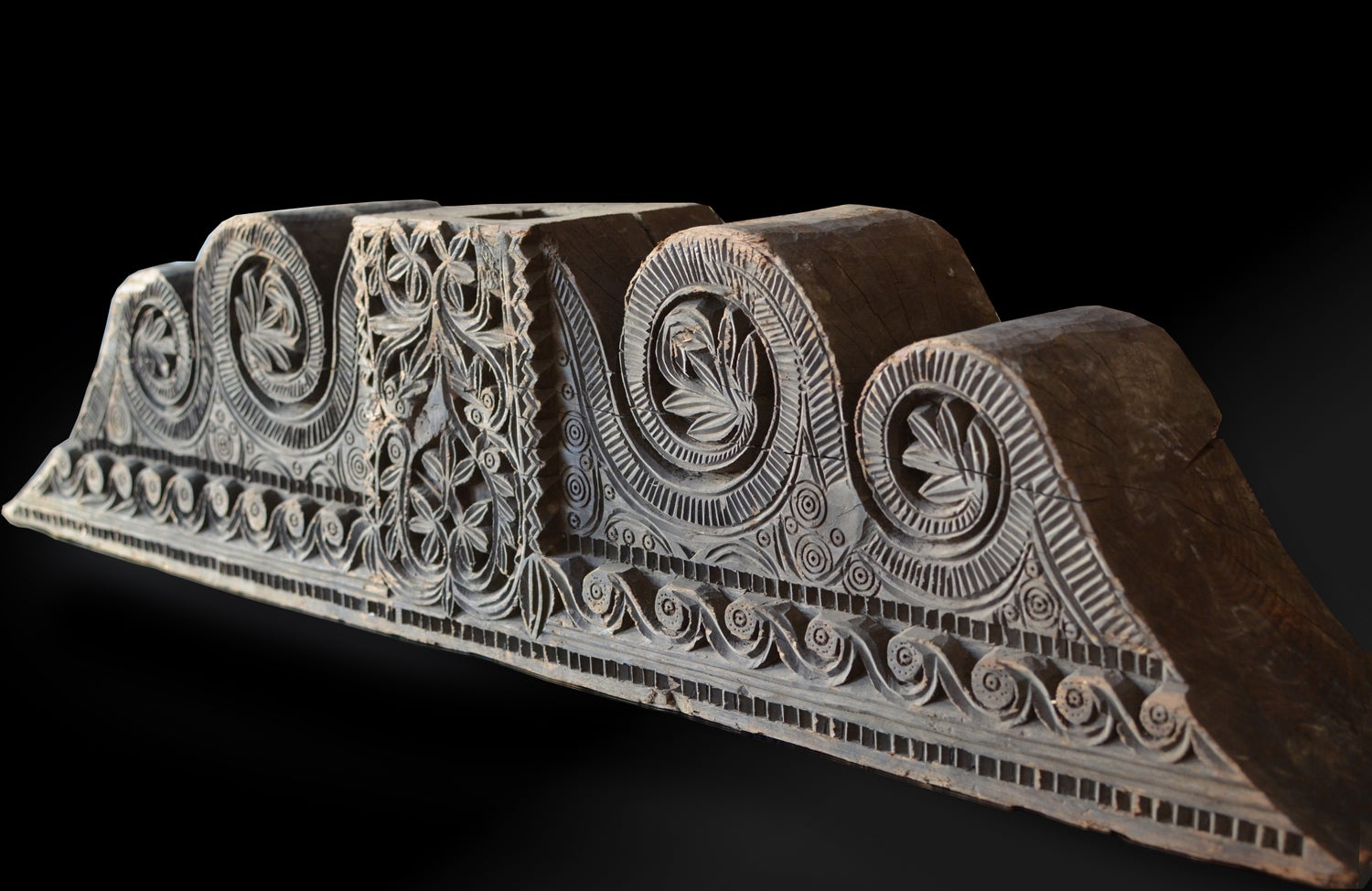 Image of A large wooden 18th century Moorish Architectural Element