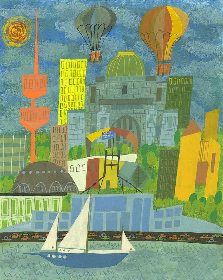 Image of Canberra. Limited edition print.