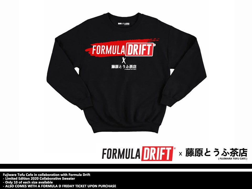 Image of Official FORMULA DRIFT x FUJIWARA TOFU CAFE Collaboration Sweater - Limited Edition