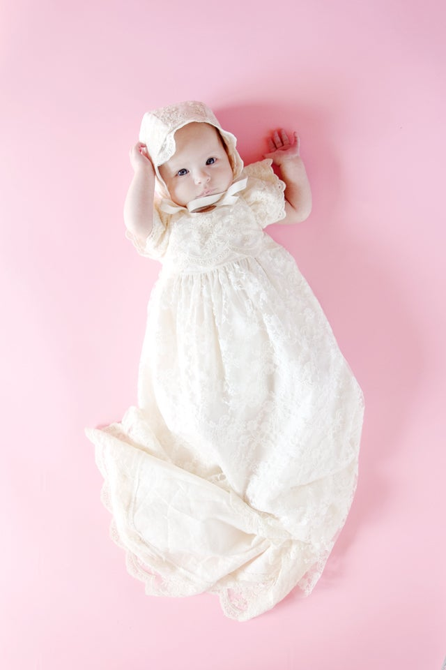 Image of the baby BLESSING DRESS PDF Premie to 24M