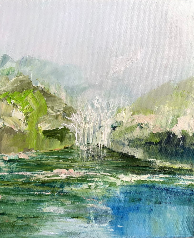 Image of 'Across the Riverbank'  2020 Oil on canvas