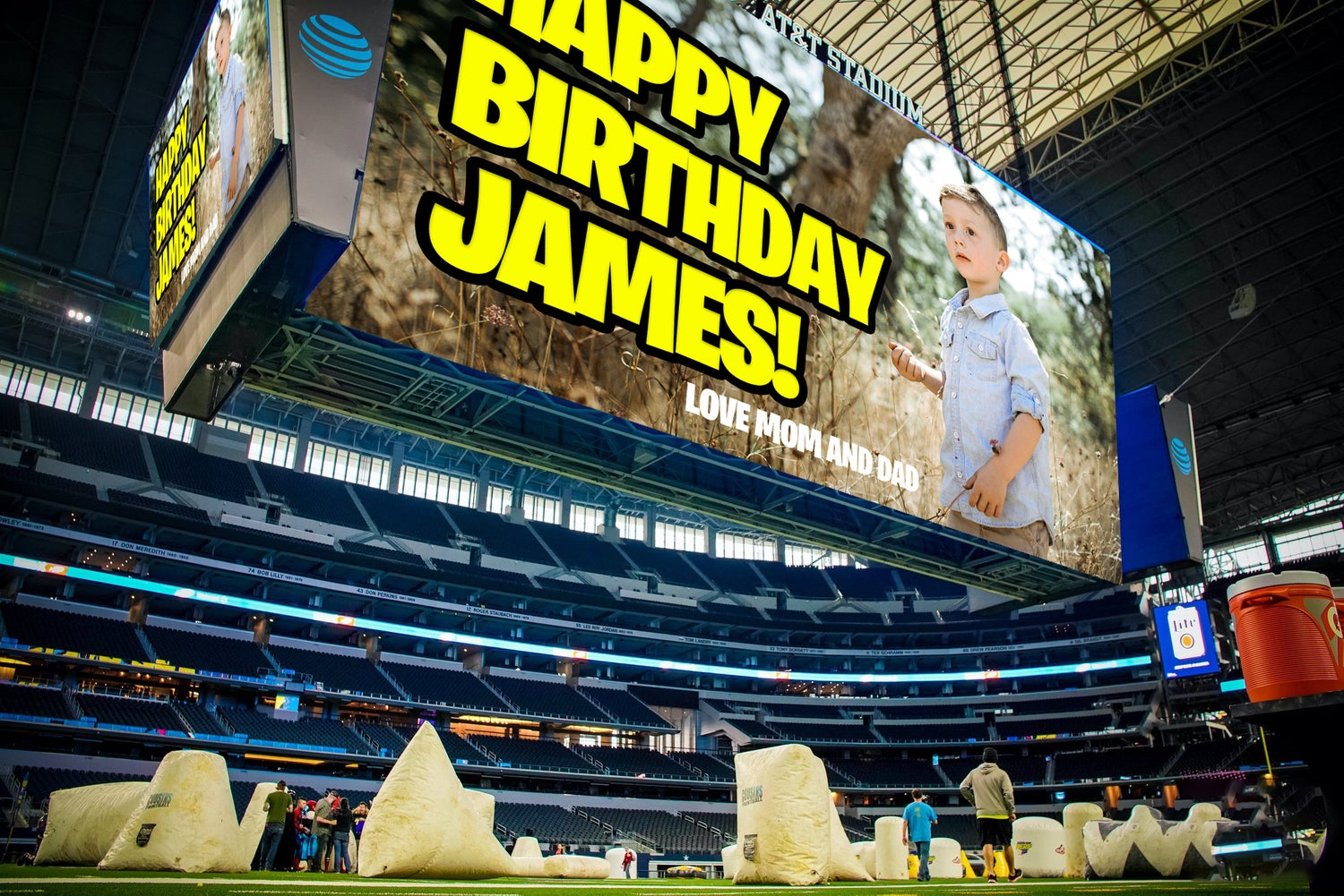 Image of JENB5 Personalized Image on AT&T Stadium Screen