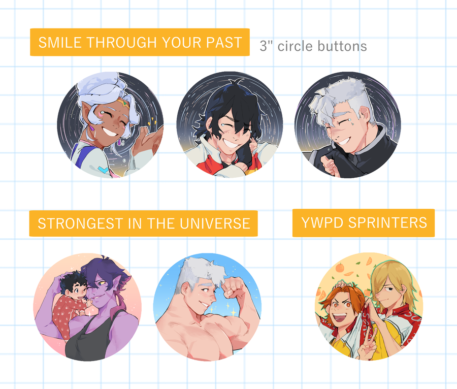 Image of Circle Buttons // Smile Through Your Past, Strongest In The Universe, & YWPD