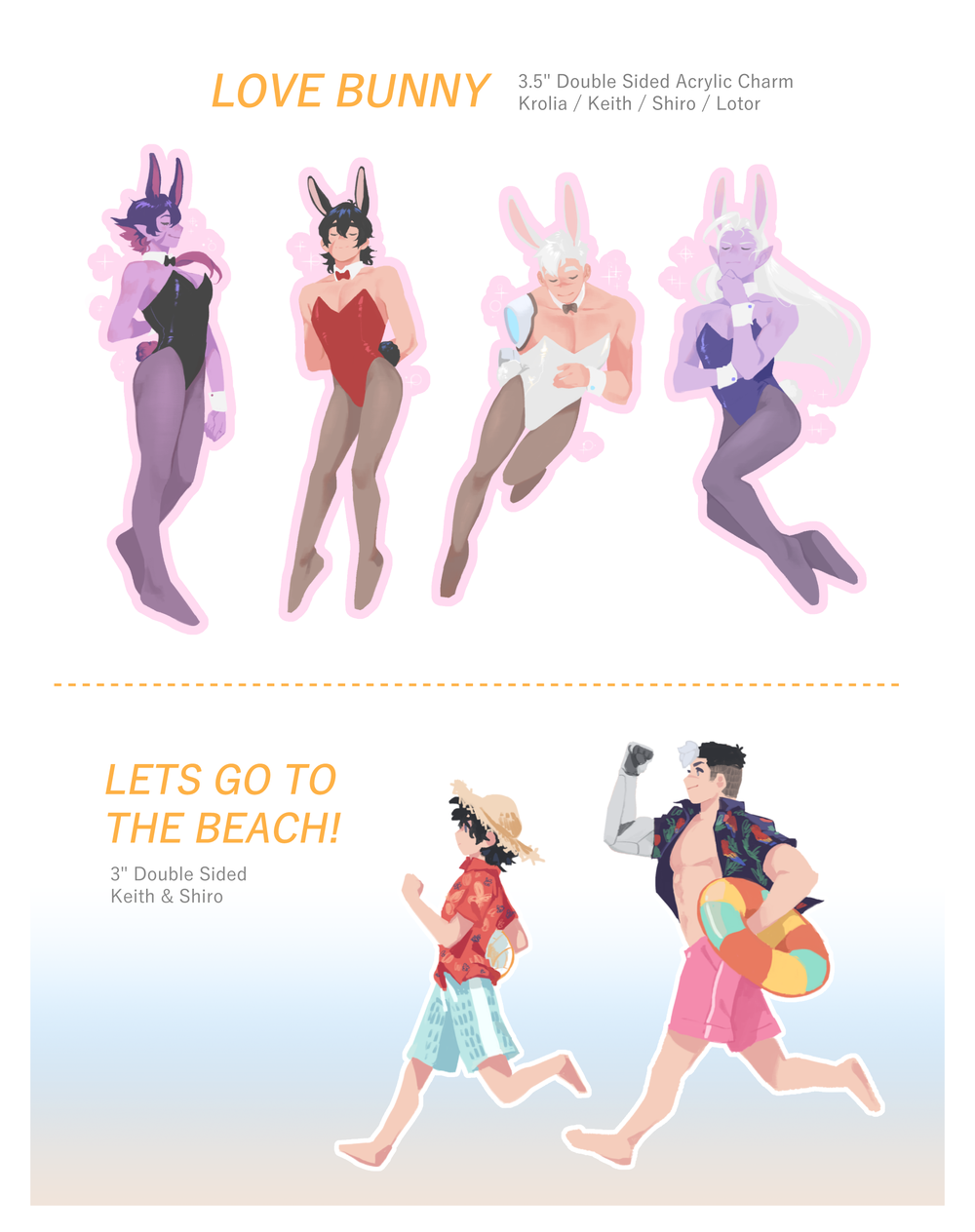 Image of Love Bunny & Lets Go To The Beach // VLD Charms
