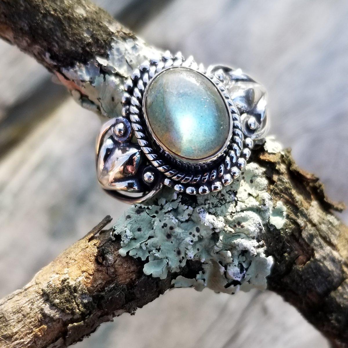 Image of Nola Ring - Labradorite in Sterling Silver