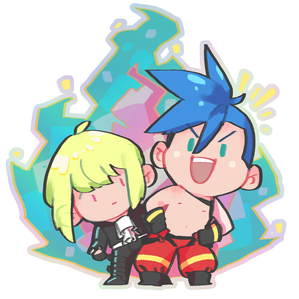 Image of Promare LioGalo Iridescent Acrylic Charm