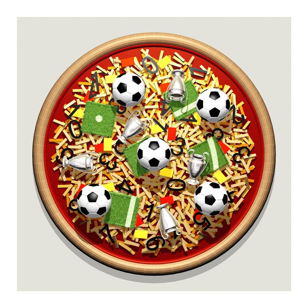 Image of Football Pizza Art Print