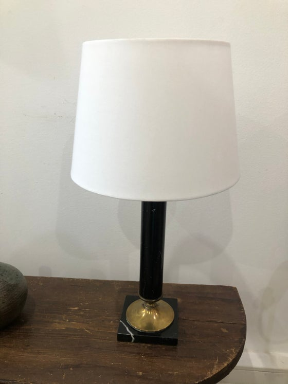 Image of Lampe pied marbre