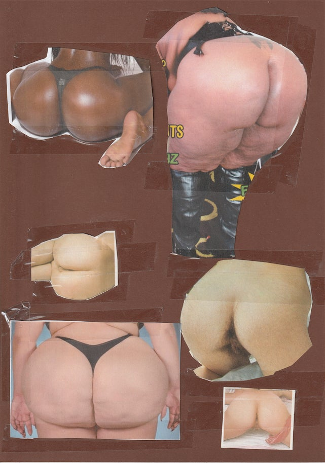 Image of 'ASS' Paper Collage