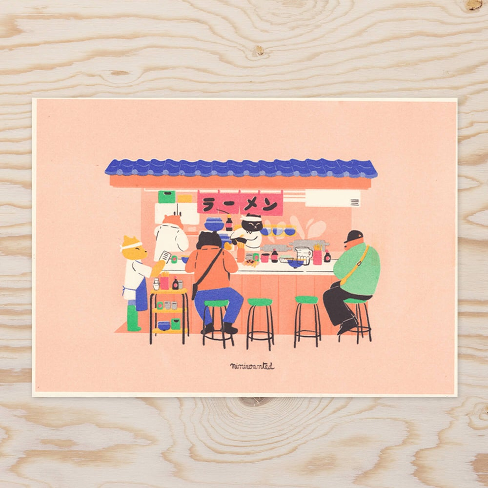 Image of Ramen stand Riso print