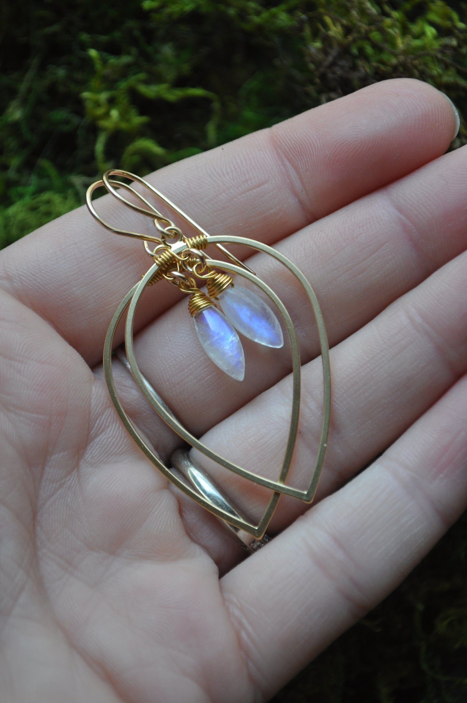 Image of Moonstone Teardrop Dangles