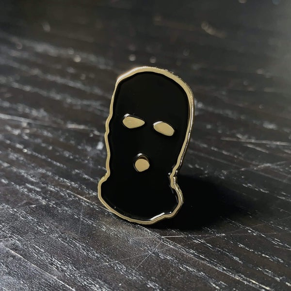 Image of /No Face/ Ski Mask Pin