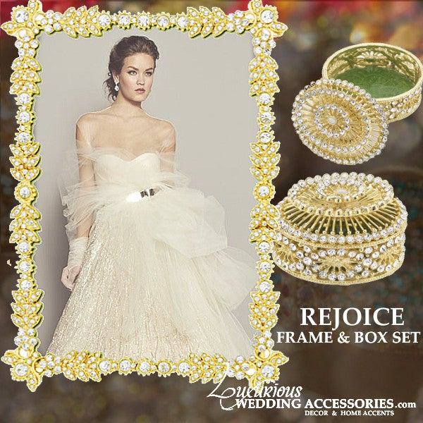 Image of Bliss Rejoice Gold Frame and Jewelry Box Set