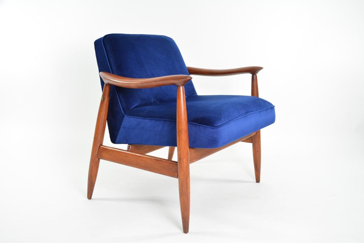 Image of Fauteuil Varsovie Bleu Kanagawa