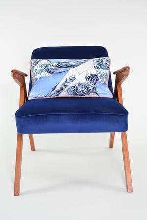 Image of Fauteuil BUNNY bleu Kanagawa