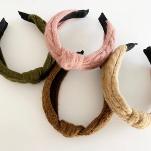 Image of Cableknit Knotted Headbands