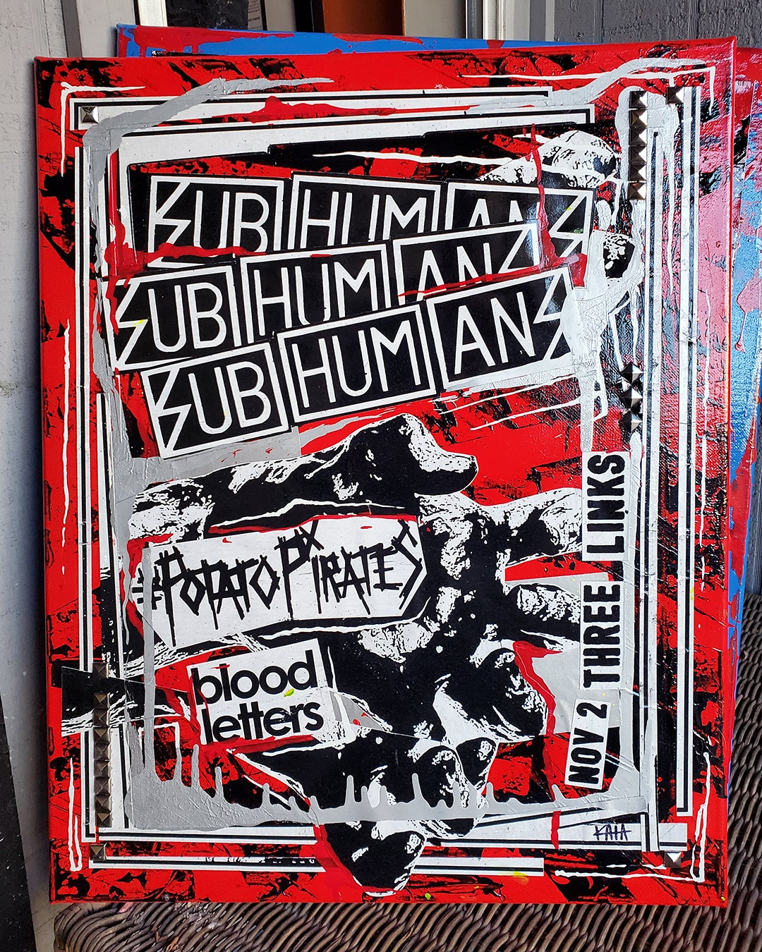 Subhumans 2015 (16x20 canvas)