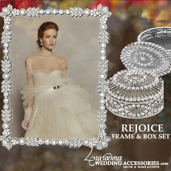 Image of  Bliss Rejoice Silver Frame and Jewelry Box Set