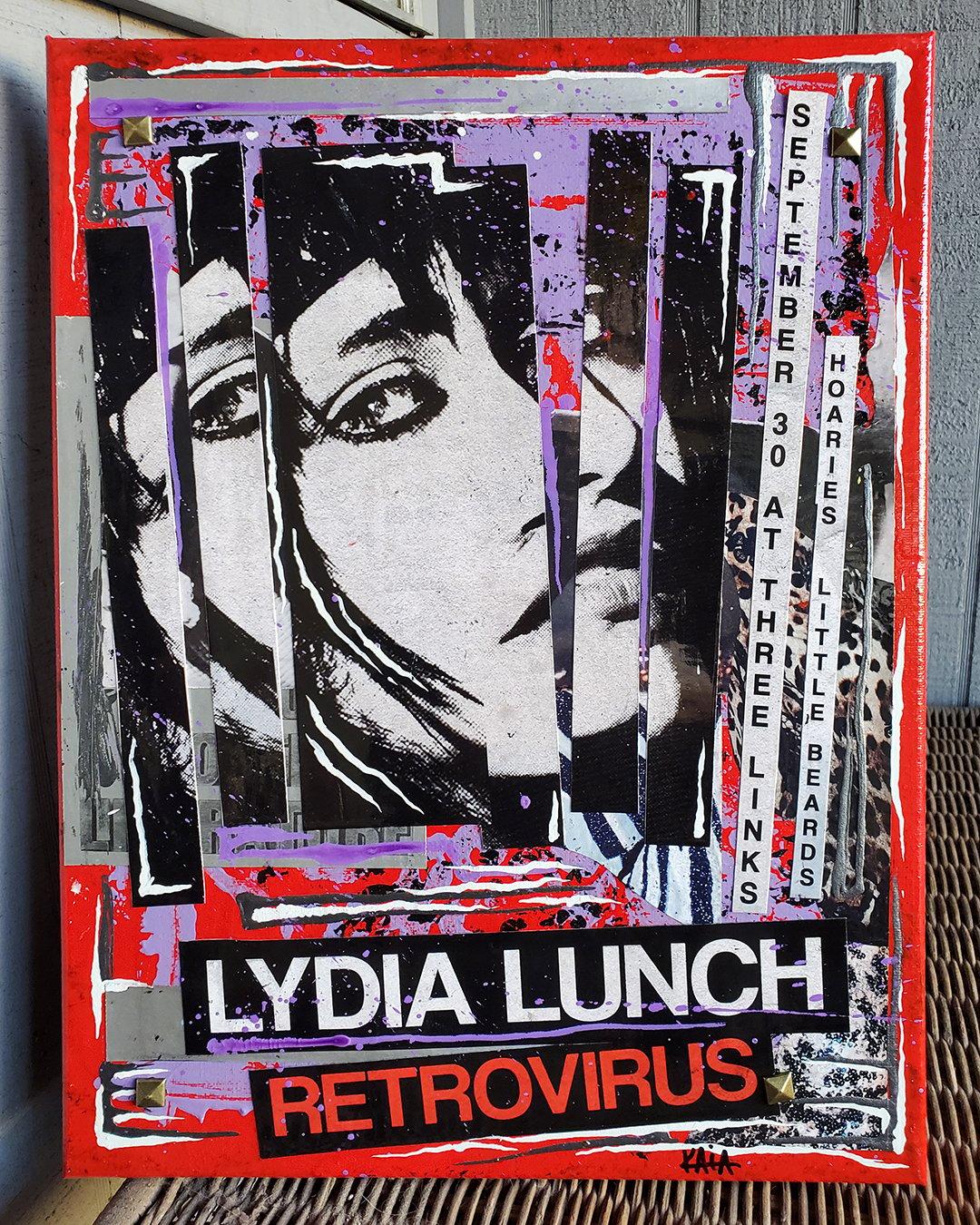 Lydia Lunch Retrovirus (12x16 canvas)