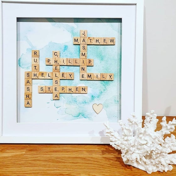 Image of Large Family Scrabble Frame (8-10 words)