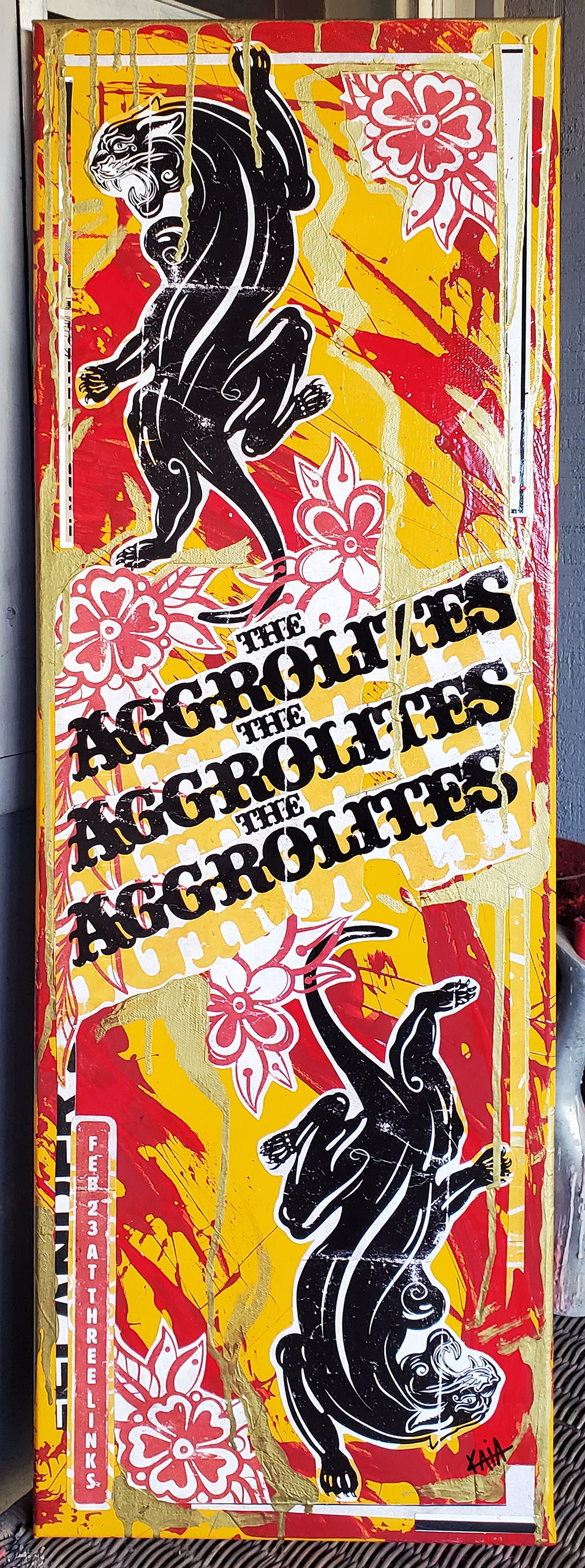 The Aggrolites 2020 (12x36 canvas)