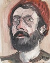 Self portrait in Gouache (Framed original)