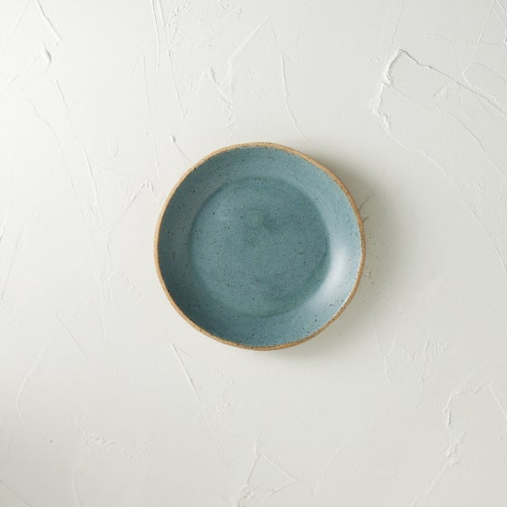 Image of NEW!! Beautiful Metallic blue speckled bowl