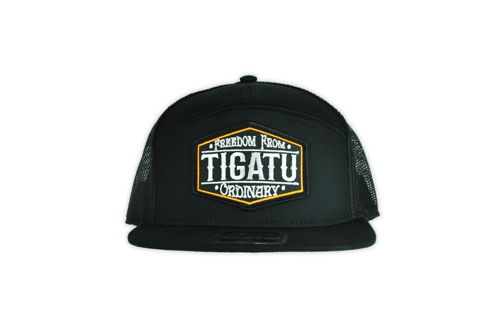 Image of Freedom Snapback - Black/Orange