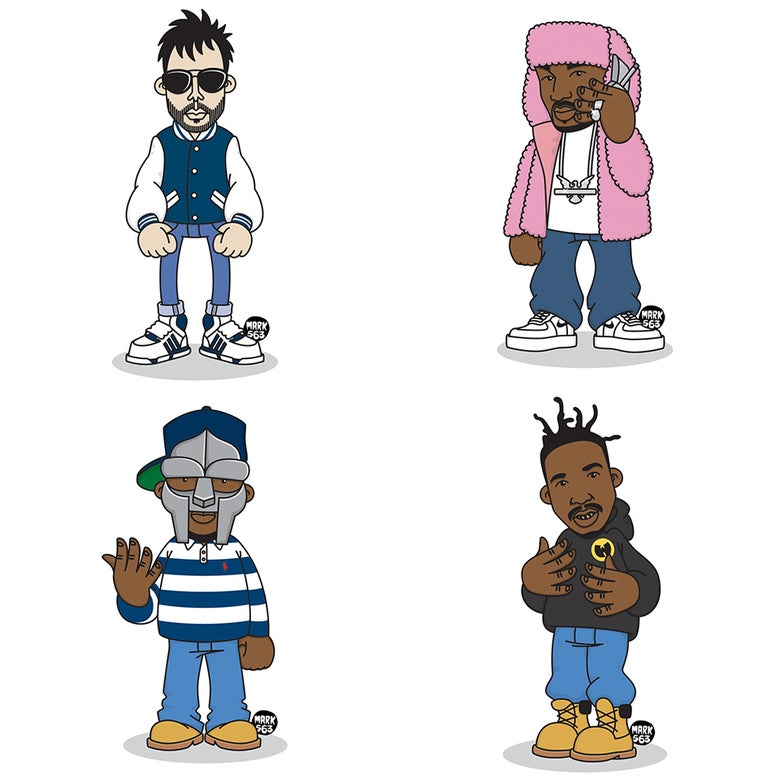 Image of Evolution Of The B-Boy Series 10 including MF DOOM, Cam'Ron, Ol' Dirty Bastard & MCA