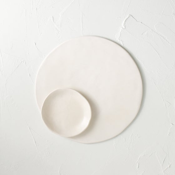 Image of Satin white cheese plate