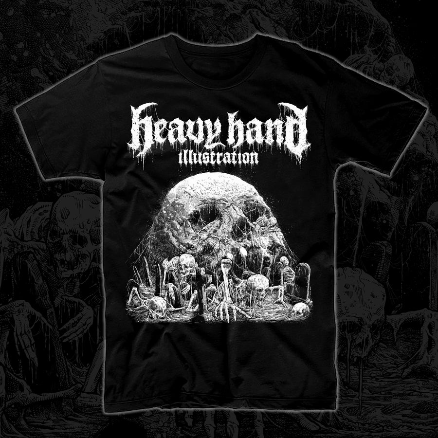 Image of Graveyard T-Shirt (White Print)