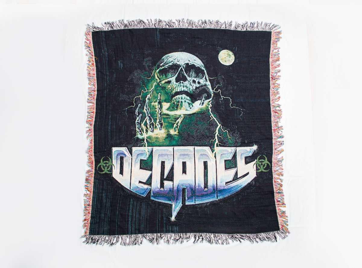 Image of Toxic Death Woven Tapestry Blanket
