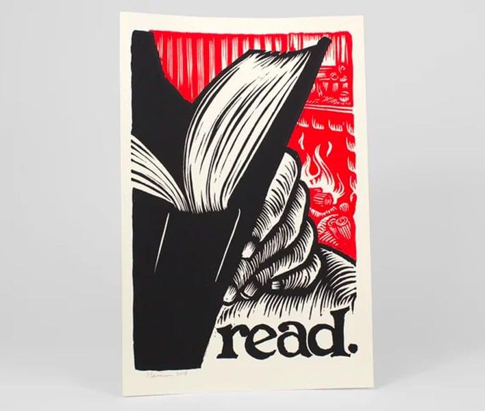 read 12x18 silkscreen poster