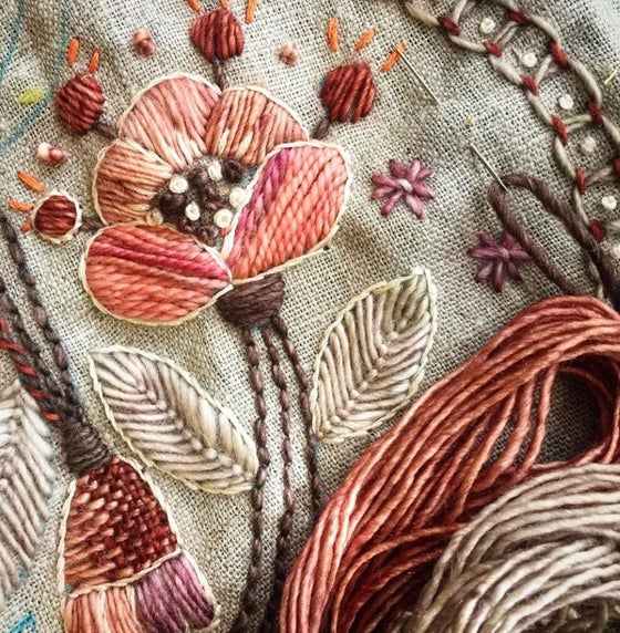 Image of 9 weeks Embroidering with Kasia Jacquot..Wednesdays 6-9pm beginning June 24th to Aug 19th