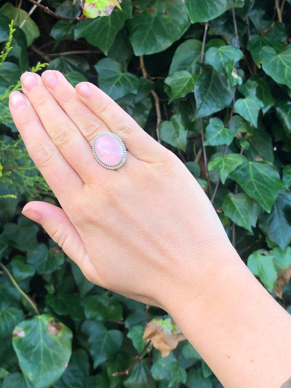 Image of Rose Quartz Statement Ring