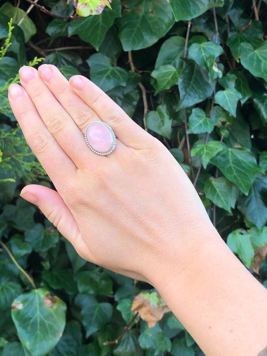 Image of Rose Quartz Statement Ring