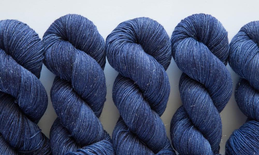 Image of Glitter Sock - Blue Jeans