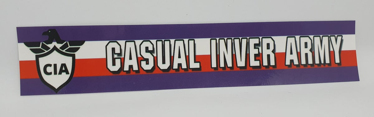 Pack of 25 15x3cm Larne Casual Inver Army football/ultras stickers.
